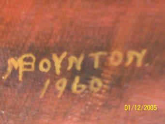 [M. Boynton painting signature]