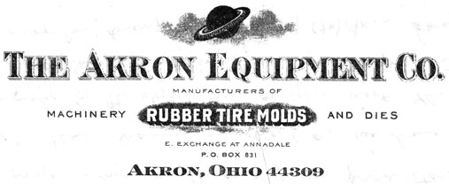 Akron Equipment Company letterhead