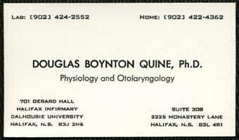 Physiology and Otolaryngology, Halifax, Nova Scotia