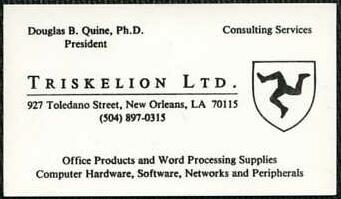 Triskelion Ltd, New Orleans, Louisiana