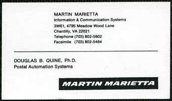 Martin Marietta Postal Automation Systems, Chantilly, Virginia