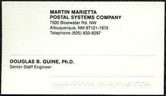Martin Marietta Postal Systems, Albuquerque, New  Mexico