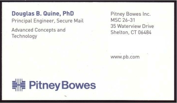 Pitney Bowes Advanced Concepts and Technologies
