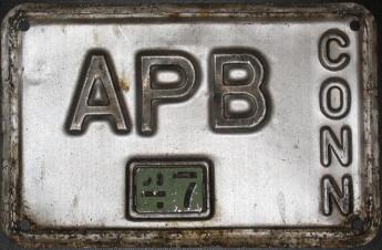APB Connecticut license plate photograph